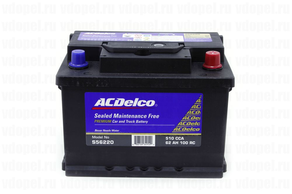 ACDELCO S56220  - Аккумулятор 12V60Ah, 510 CCА EN, 460 CCA (SAE, GS) 242x175x175 (GM) 93197905