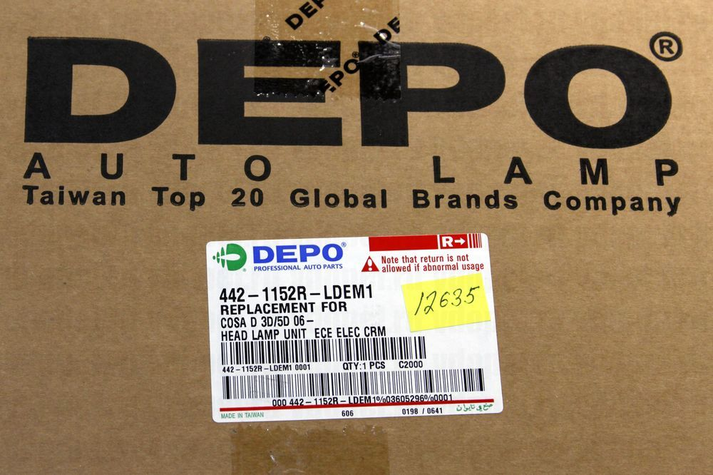 DEPO 4421152RLDEM1  - Фара Корса D -11 DEPO прав.