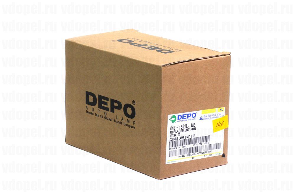 DEPO 4421501LUE  - Поворотник.Вектра 92- (белый) лев.