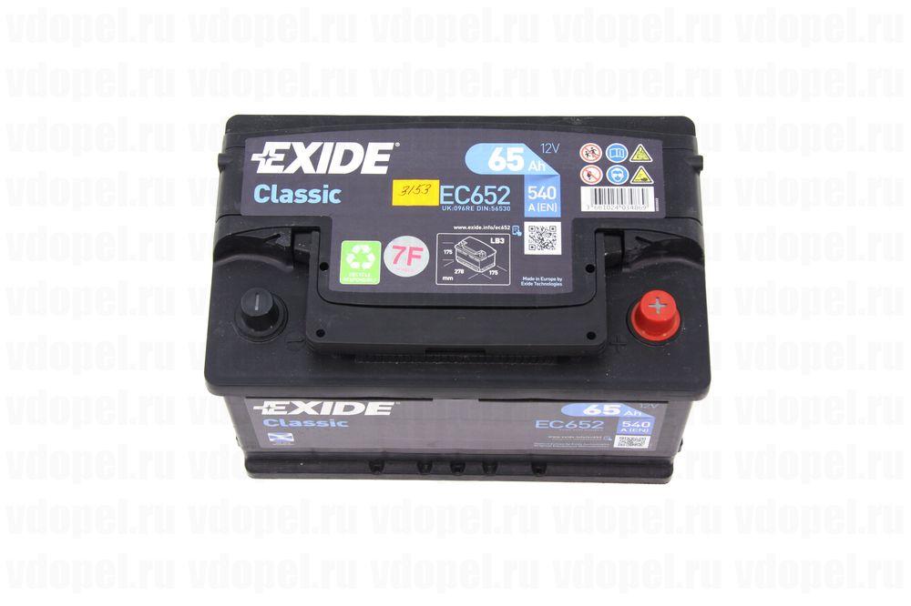 EXIDE EC652  - Аккумулятор 12V65Ah, 540 CCА EN  278x175x175 1201212