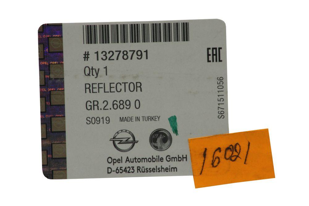 GM 13278791  - Отражатель заднего бампера Зафира С