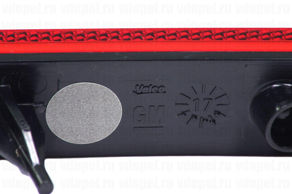 GM 13281259  - Отражатель зад. бампера Астра J 3дв. лев.