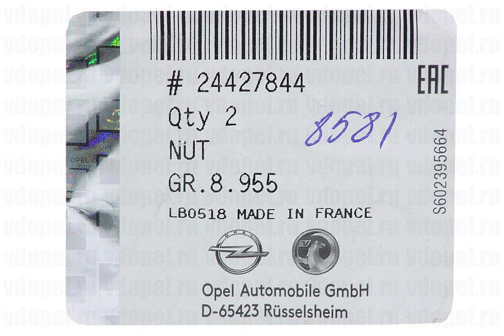 GM 24427844  - Гайка M12х1,25