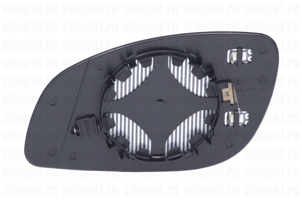 GM 24438121  - Зеркальный элемент Вектра C с платформой и подогревом GM прав.