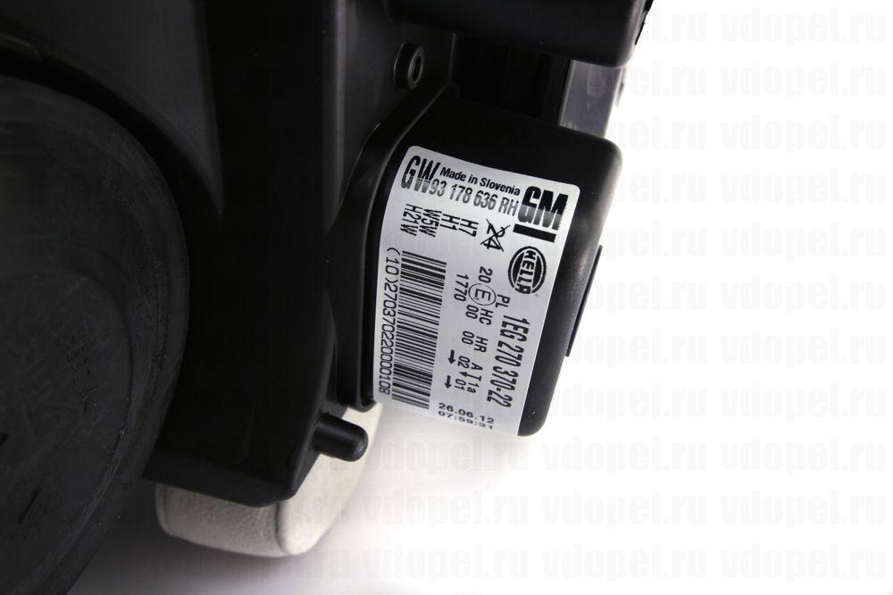 GM 93178636  - Фара Астра H (темн.) без ксенона GM прав.