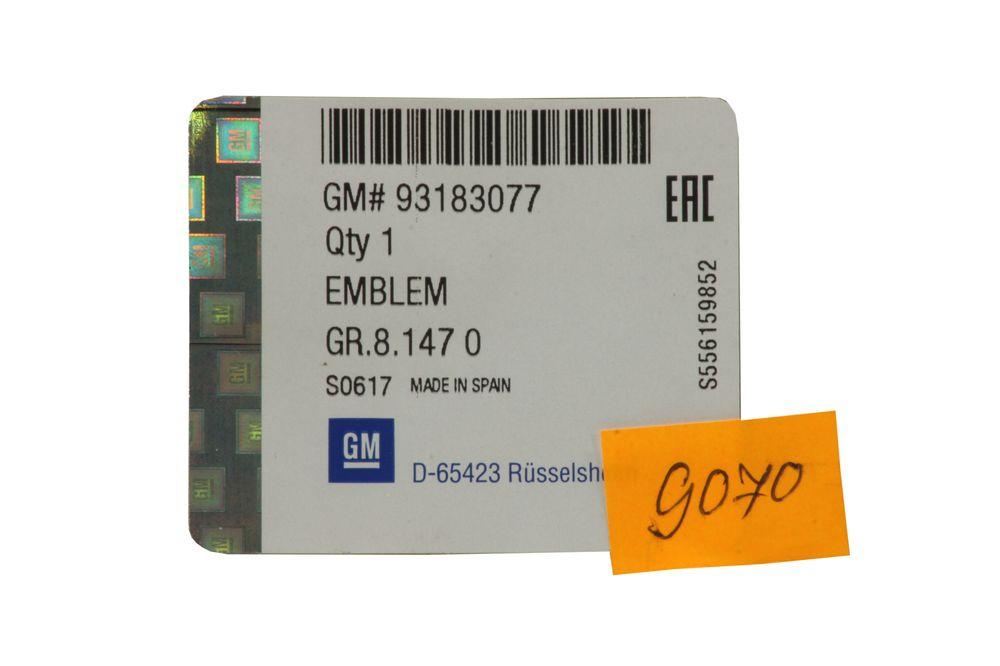 GM 93183077  - Эмблема задняя Астра H 3дв. х. б.