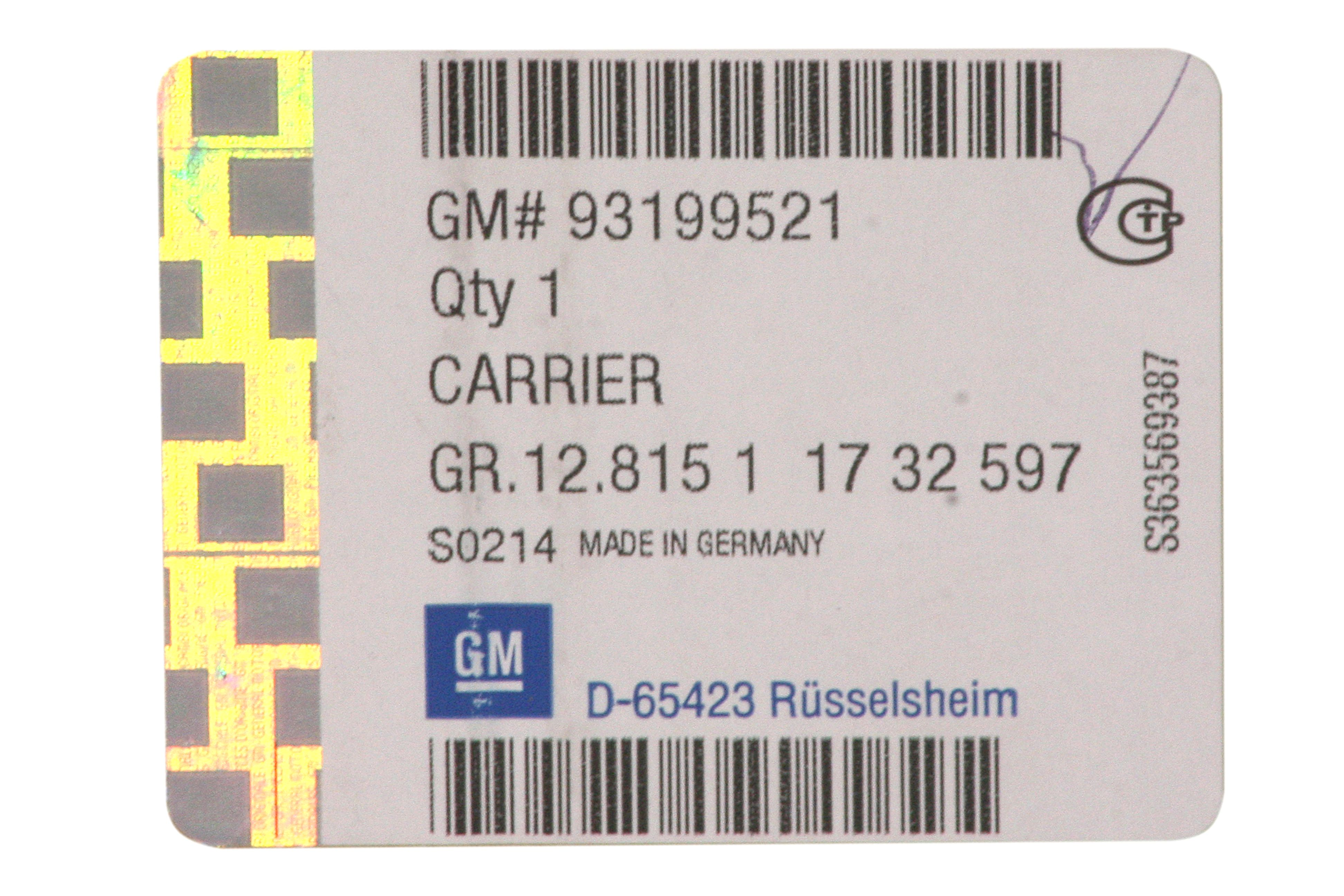 GM 93199521  - Багажник на крышу Зафира В.
