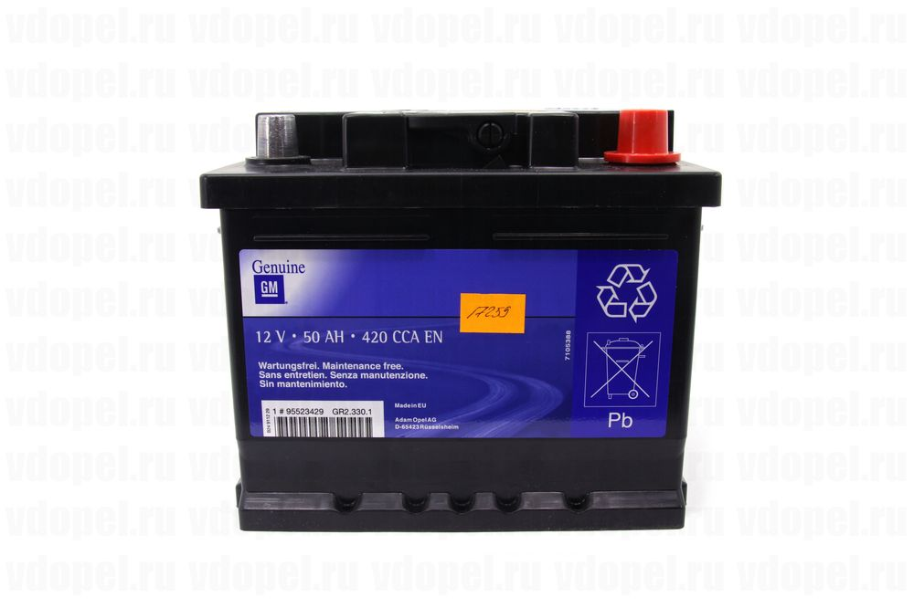 GM 95523429  - Аккумулятор 12V50Ah, 420 CCA EN, 210x175x175