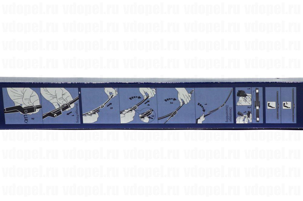 GM 95524994  - Щётка стеклоочистителя. Зафира C (комплект 2шт.)