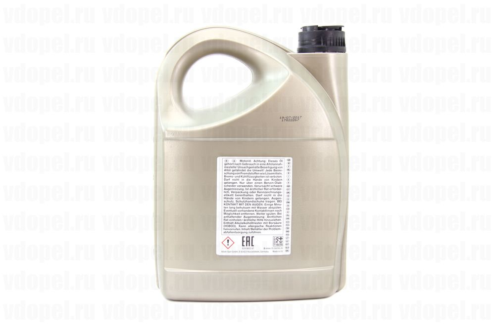 GM 95599877  - Масло моторное синтетическое. 5W-30 DEXOS 1 (5л.) API SN+RC. Европа. GEN 2