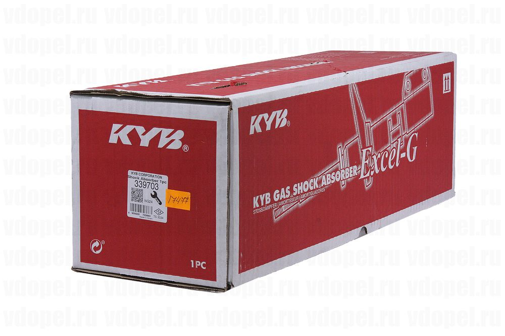 KAYABA 339703  - Амортизатор передний Астра H 1,2-1,6 KAYABA газ лев.