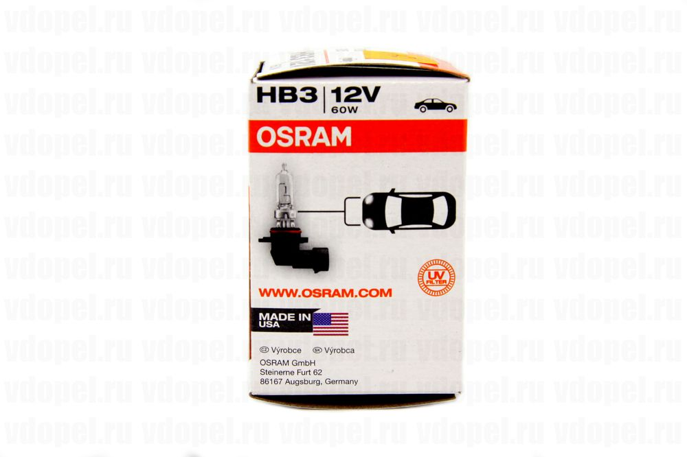 OSRAM 9005  - Лампа фары. 12V 60W HB3 Астра G,Зафира. Германия.