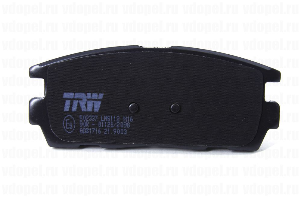 TRW GDB1716  - Колодки задние дисковые Антара Chevrolet Captiva